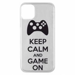 Чехол для iPhone 11 Pro KEEP CALM and GAME ON