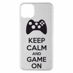Чехол для iPhone 11 Pro Max KEEP CALM and GAME ON