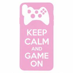 Чехол для iPhone X/Xs KEEP CALM and GAME ON