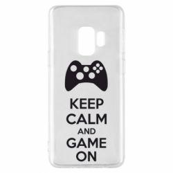 Чехол для Samsung S9 KEEP CALM and GAME ON