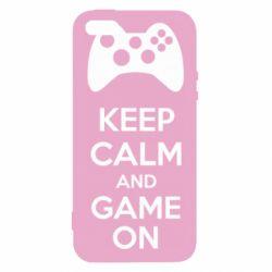 Чехол для iPhone5/5S/SE KEEP CALM and GAME ON