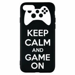 Чехол для iPhone 7 KEEP CALM and GAME ON