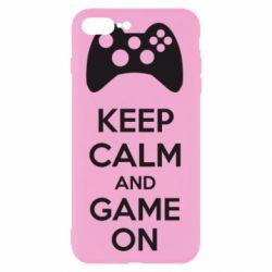 Чехол для iPhone 7 Plus KEEP CALM and GAME ON