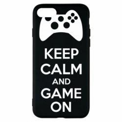 Чехол для iPhone 8 KEEP CALM and GAME ON