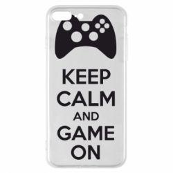 Чехол для iPhone 8 Plus KEEP CALM and GAME ON