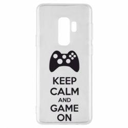 Чехол для Samsung S9+ KEEP CALM and GAME ON
