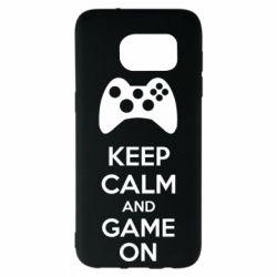 Чехол для Samsung S7 EDGE KEEP CALM and GAME ON