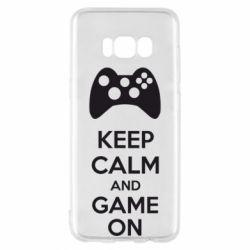 Чехол для Samsung S8 KEEP CALM and GAME ON