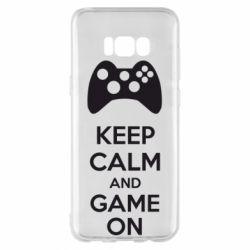 Чехол для Samsung S8+ KEEP CALM and GAME ON