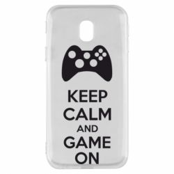 Чехол для Samsung J3 2017 KEEP CALM and GAME ON