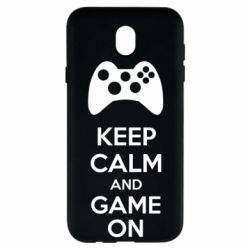 Чехол для Samsung J7 2017 KEEP CALM and GAME ON