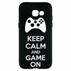 Чехол для Samsung A5 2017 KEEP CALM and GAME ON