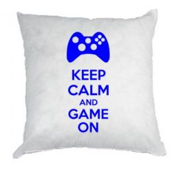 Подушка KEEP CALM and GAME ON
