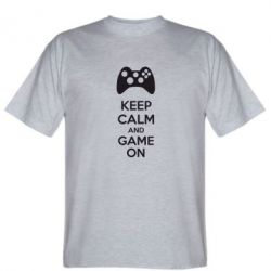 Футболка KEEP CALM and GAME ON