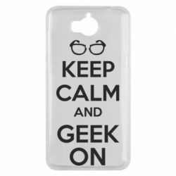 Чехол для Huawei Y5 2017 KEEP CALM and GEEK ON - FatLine