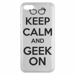 Чехол для Huawei Y5 2018 KEEP CALM and GEEK ON - FatLine