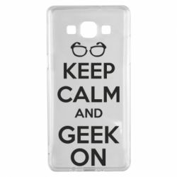 Чехол для Samsung A5 2015 KEEP CALM and GEEK ON - FatLine