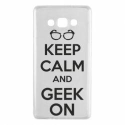 Чехол для Samsung A7 2015 KEEP CALM and GEEK ON - FatLine