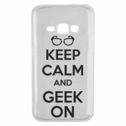 Чехол для Samsung J1 2016 KEEP CALM and GEEK ON - FatLine