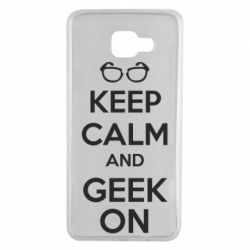 Чехол для Samsung A7 2016 KEEP CALM and GEEK ON - FatLine