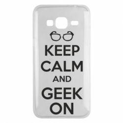 Чехол для Samsung J3 2016 KEEP CALM and GEEK ON - FatLine