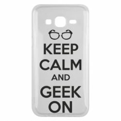 Чехол для Samsung J5 2015 KEEP CALM and GEEK ON - FatLine