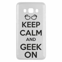 Чехол для Samsung J5 2016 KEEP CALM and GEEK ON - FatLine