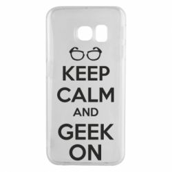 Чехол для Samsung S6 EDGE KEEP CALM and GEEK ON - FatLine