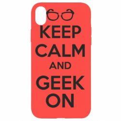 Чехол для iPhone XR KEEP CALM and GEEK ON - FatLine