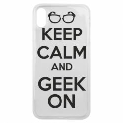 Чехол для iPhone Xs Max KEEP CALM and GEEK ON - FatLine