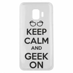 Чехол для Samsung J2 Core KEEP CALM and GEEK ON - FatLine