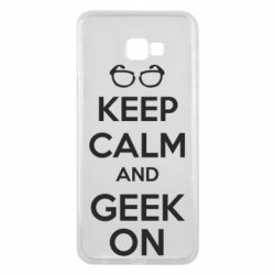 Чехол для Samsung J4 Plus 2018 KEEP CALM and GEEK ON - FatLine