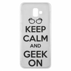 Чехол для Samsung J6 Plus 2018 KEEP CALM and GEEK ON - FatLine
