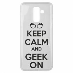 Чехол для Samsung J8 2018 KEEP CALM and GEEK ON - FatLine