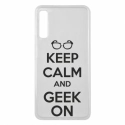 Чехол для Samsung A7 2018 KEEP CALM and GEEK ON - FatLine