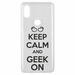 Чехол для Xiaomi Mi Mix 3 KEEP CALM and GEEK ON - FatLine