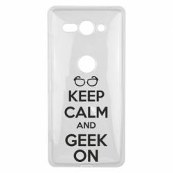 Чехол для Sony Xperia XZ2 Compact KEEP CALM and GEEK ON - FatLine