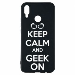 Чехол для Huawei P Smart Plus KEEP CALM and GEEK ON - FatLine