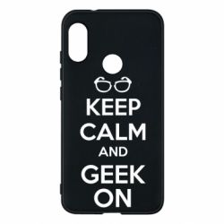 Чехол для Mi A2 Lite KEEP CALM and GEEK ON - FatLine