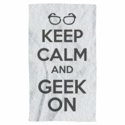 Полотенце KEEP CALM and GEEK ON - FatLine
