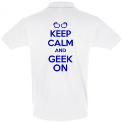 Футболка Поло KEEP CALM and GEEK ON - FatLine