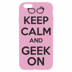 Чехол для iPhone 6/6S KEEP CALM and GEEK ON - FatLine