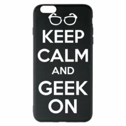 Чехол для iPhone 6 Plus/6S Plus KEEP CALM and GEEK ON - FatLine