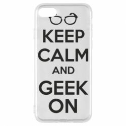 Чехол для iPhone 7 KEEP CALM and GEEK ON - FatLine