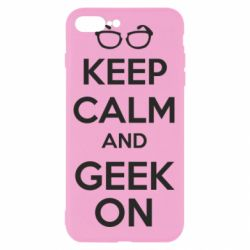 Чехол для iPhone 7 Plus KEEP CALM and GEEK ON - FatLine