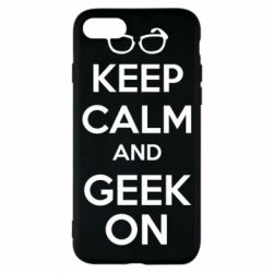 Чехол для iPhone 8 KEEP CALM and GEEK ON - FatLine
