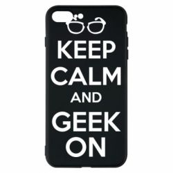 Чехол для iPhone 8 Plus KEEP CALM and GEEK ON - FatLine