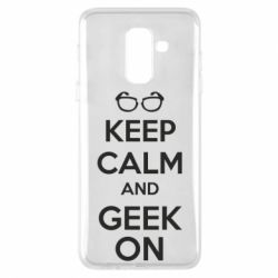 Чехол для Samsung A6+ 2018 KEEP CALM and GEEK ON - FatLine