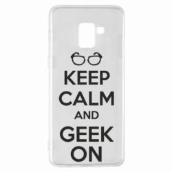 Чехол для Samsung A8+ 2018 KEEP CALM and GEEK ON - FatLine