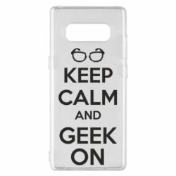 Чехол для Samsung Note 8 KEEP CALM and GEEK ON - FatLine